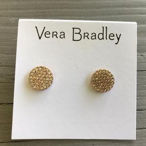 Vera Bradley Circle Pave Earrings ~ NWT!